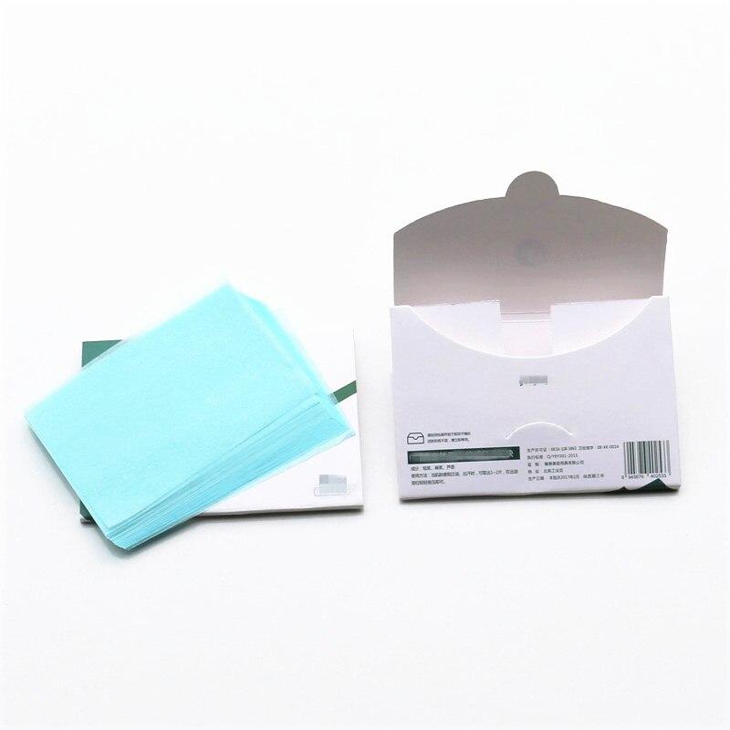 50pcs/Box Facial Oil Blotting Sheets Oil Absorbing Papers Oil Control Face Skin Makeup Care Tool 10c X 7.2cm