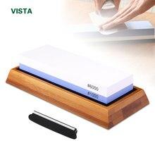 Afilador de cuchillos profesional piedra de afilar herramienta de cocina de piedra de agua 2 en 1 240 600 1000 grano