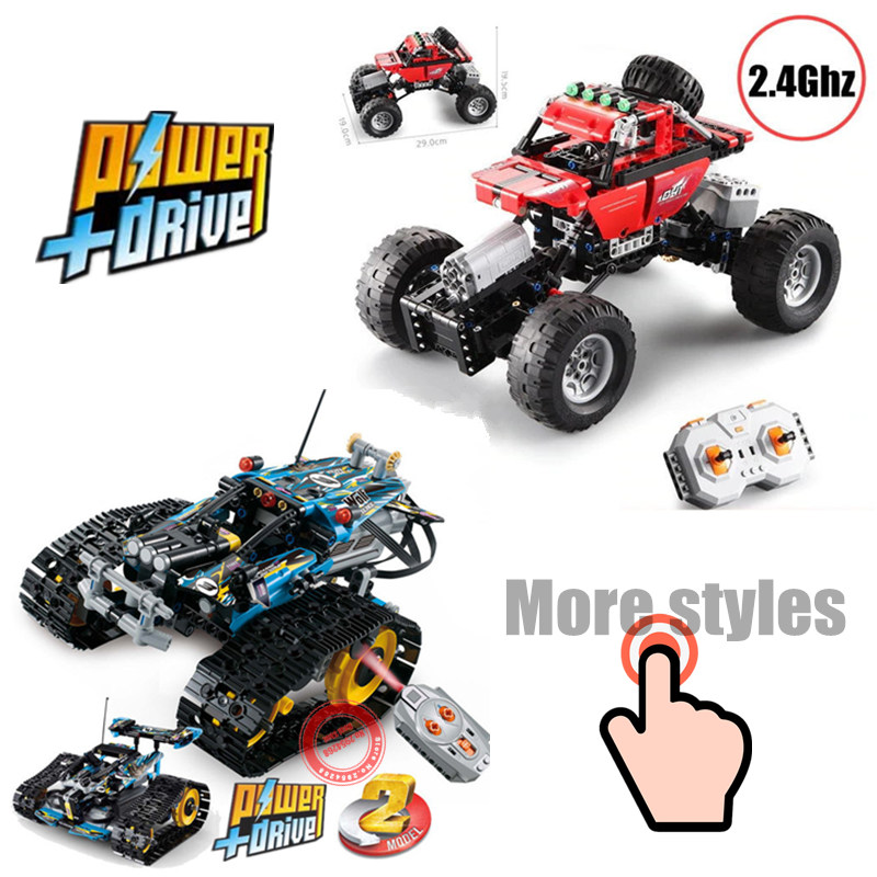 New Electric Technic Collection RC TRACKED RACER Motor Power Functions fit technic car Building Block bricks