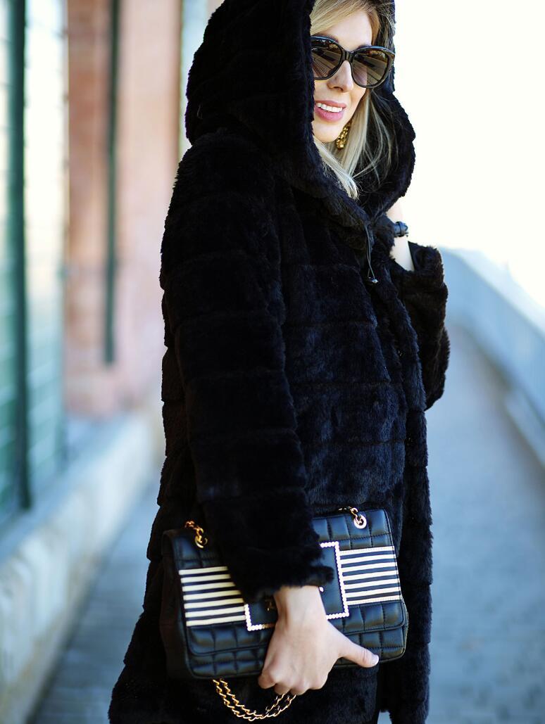 Faux Fur Vest Top Fashion Wide-waisted Full  New Fur Mink Coat Female High Imitation Rejection Cap Long Section