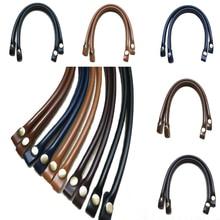 1PC PU Leather Bag Handles Detachable Obag Handles DIY Replacement Accessories For Bags Lady Shoulder Bag Handbag Strap Bag Belt недорого