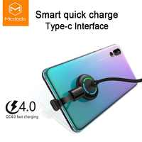 Mcdodo USB Type C Elbow Design for Game Cable QC4.0 Fast Charging LED Cable for Samsung Xiaomi Huawei USB C Phone Charger Cable