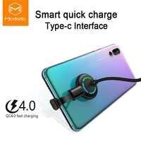 Mcdodo USB Typ C Ellenbogen Design für Spiel Kabel QC4.0 Schnelle Lade LED Kabel für Samsung Xiaomi Huawei USB C telefon Ladegerät Kabel