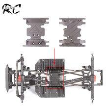 Liga de alumínio Transmissão AX10 Montar Base de Suporte de Caixa de Velocidades Skid Placas para 1/10 RC Crawler Axial SCX10 e SCX10 II Chassis