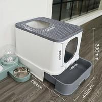 Top Entry Cat Litter Box for pet Large Capacity cat Toilet Tray Closed Splash Drawer Style Tray Toilet Bedding Training New 2020
