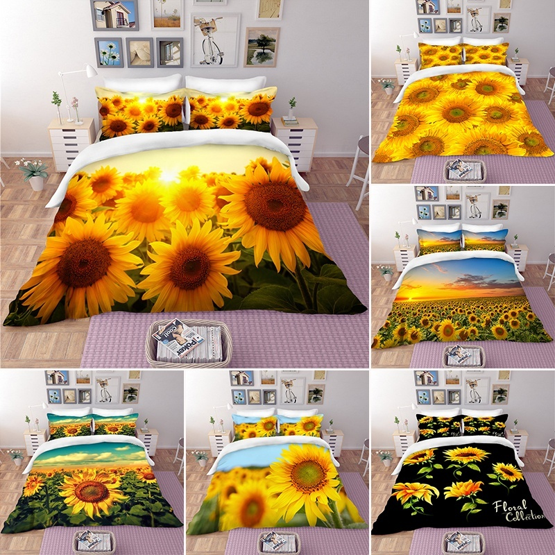 You Are My Sunshine Sunflower Vintage Newspaper Duvet Cover Set With 2 Pillow Shams For Kids Teens Adults Toddler 3 Piece Bedding Set Comforter Quilt Cover Set Queen Size Toys Games Duvet Cover Sets