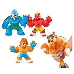 Горячие GOO Jit Zu Hero Мягкие игрушки милые мягкие животные Лев Акула крокодил орангутан опционально антистресс сжимаются куклы игрушки Squishys