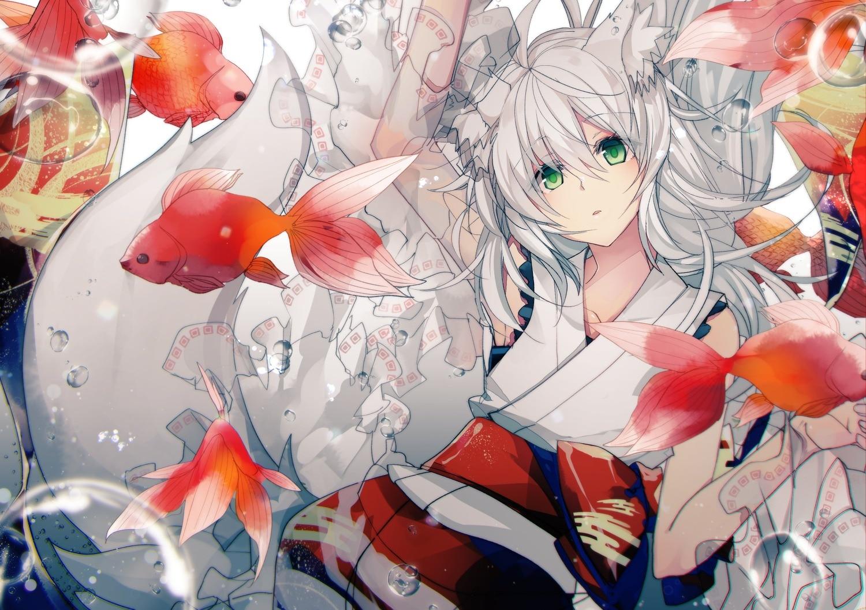 【白毛兽耳娘】日本画师 ぬみ-Sin二次元少女插画作品赏析_图片 No.8