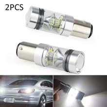 2 pièces nouveau 1157 BSY15D 20 SMD LED Auto feux de freinage voiture DRL conduite lampe inverse ampoules clignotants blanc
