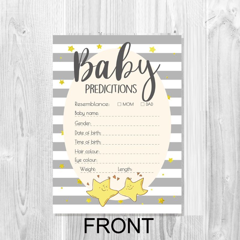 Advice And Prediction Cards For Baby Shower Game New Parent Message Advice Book P31B