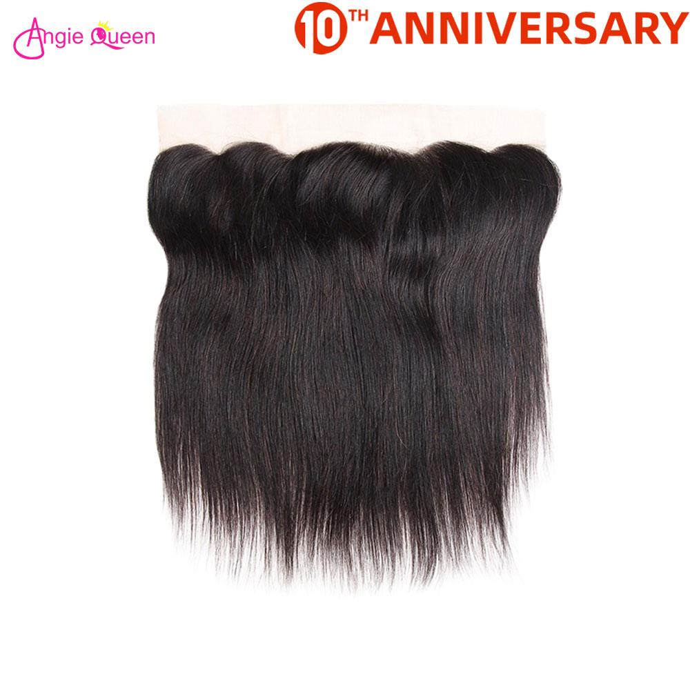 Angie Queen Straight Frontal Brazilian Hair Lace Frontal Human Hair Remy Hair Frontal 150% Frontal 8-20 Inch Free Part Frontal