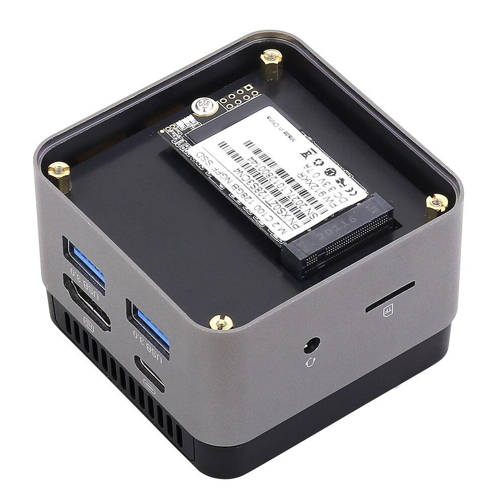 BEBEPC Portable Mini PC Intel Celeron N4100 Quad Cores 8GB LPDDR4 Windows 10 2.4G/5G Dual Band Wifi Bluetooth 4.2 HDMI 2.0 2*USB-4