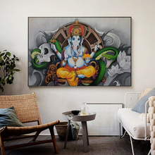 Lord Ganesha Hindu Gods Canvas Painting Elephant Hinduism Posters and Prints Wall Art Decorative Picture for Living Room Decor hemenway priya hindu gods