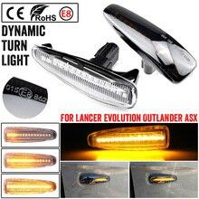 2 stücke Dynamische LED Seite Marker Blinker Repeater fließende flash licht fit Für Mitsubishi Lancer Evolution X Outlander Mirage