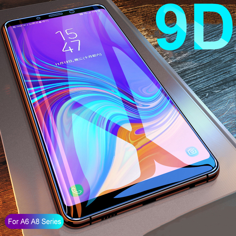 9D Tempered Glass On The For Samsung Galaxy A8 A6 J4 J6 Plus 2018 J2 J4 Core J6 J8 A6 A8 2018 Screen Protective Protector Film