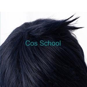 Image 5 - Cos בית ספר Aphelios פאה LOL ליגת של אגדות Aphelios קוספליי פאות כחול קצר שיער + כובע פאת ליל כל הקדושים משחק לשחק פאות
