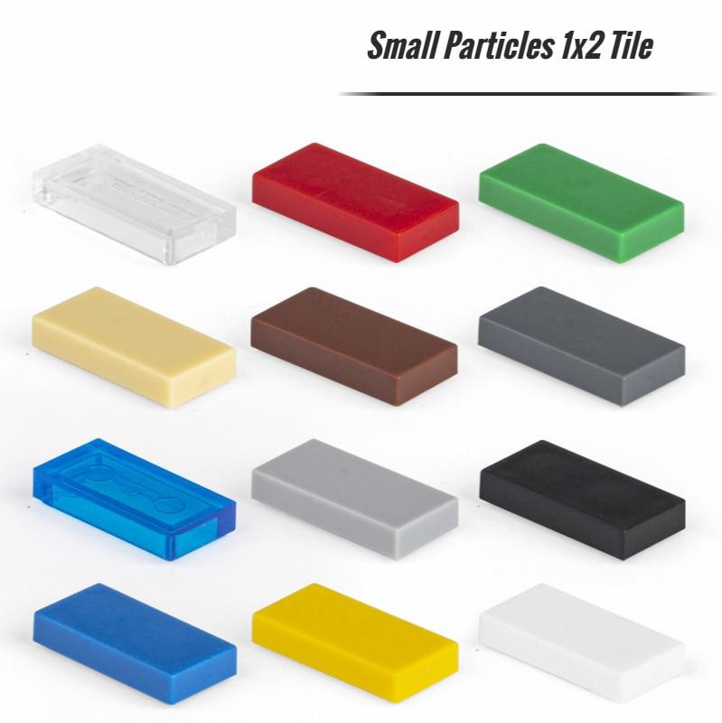 50 шт. мелких частиц 3069 керамическая плитка 1x2 DIY строительные блоки Совместимые с креативным подарком строительные блоки Moc замок игрушки