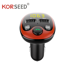 Radio FM Transmitter Bluetooth Car MP3 Player Handsfree Car Kit Dual USB Charger TF U Disk Music Player Car Accessories Gadgets new handsfree wireless bluetooth car kit fm transmitter radio support u disk mp3 player phone app control car charger aux out