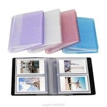 64 Pockets 3 Inch Quicksand Photo Album Mini Instant Picture Case Storage Organizer for Mini 11/9/8/8+ J27 21 Dropshipping