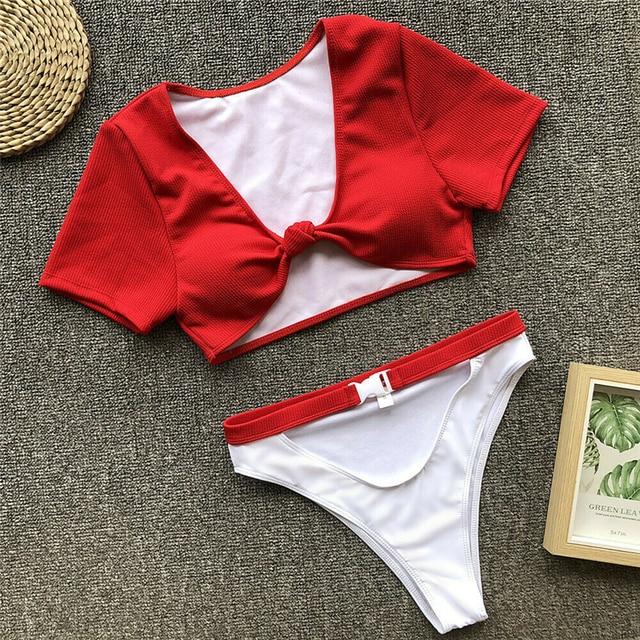 Swimsuit Women Bikini Set High Waist Bathing Suit Ladies Beachwear Biquinis Feminino 2019 Bathing Suit Women Swimming Suit 6