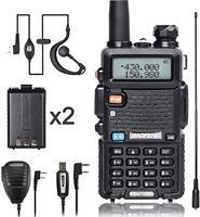 """מכשיר הקשר Baofeng מכשיר הקשר UV-5R Ham Dual-Band שני הדרך VHF / UHF CB רדיו 5 וואט 1800mAh Li-ion סוללה Waterproof, מקמ""""ש (1)"""