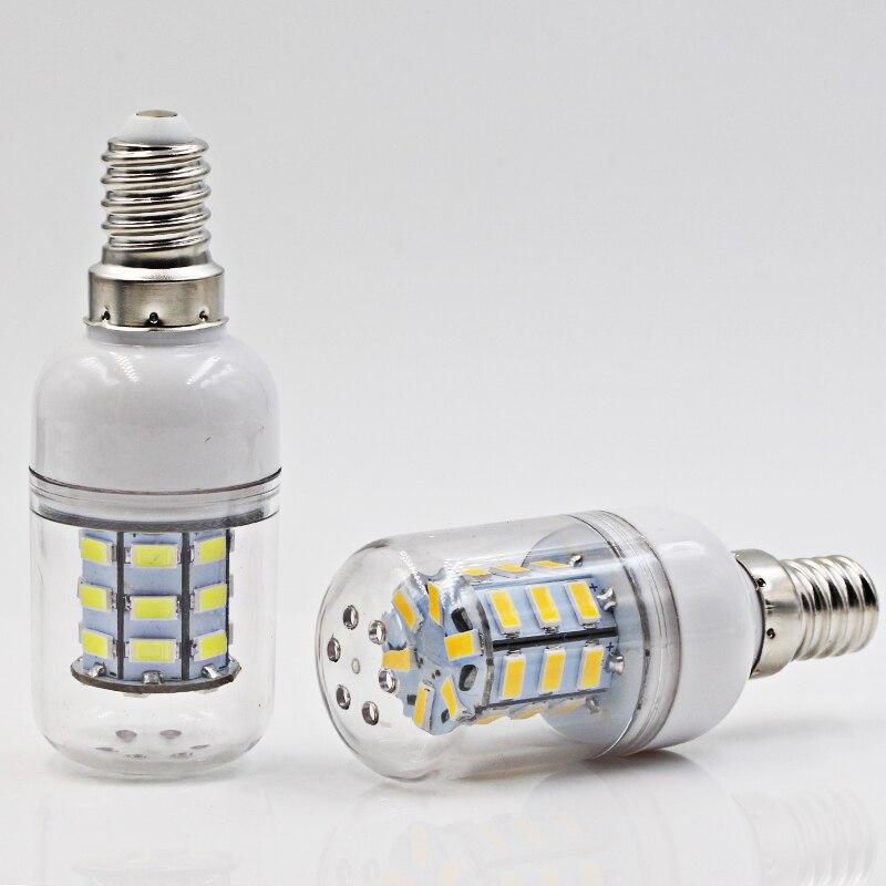 Купить с кэшбэком ampolletas led bulb light E14 3W corn bulbs Ac Dc 12v 24v super 5730 candle spotlight 12 24 volts 360 degree lighting E 14 lamp