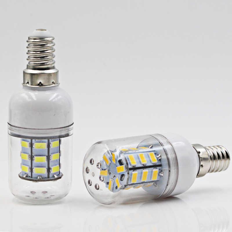Ampolletas led لمبة إضاءة E14 3W لمبة بتصميم على شكل كوز الذرة Ac Dc 12v 24 v سوبر 5730 شمعة أضواء 12 24 فولت 360 درجة الإضاءة E 14 مصباح