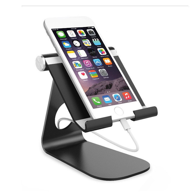 Aluminium Alloy Mobilephone and Tablet Computer Rack Adjustable Desktop Lazy Metal Cellphone Holder