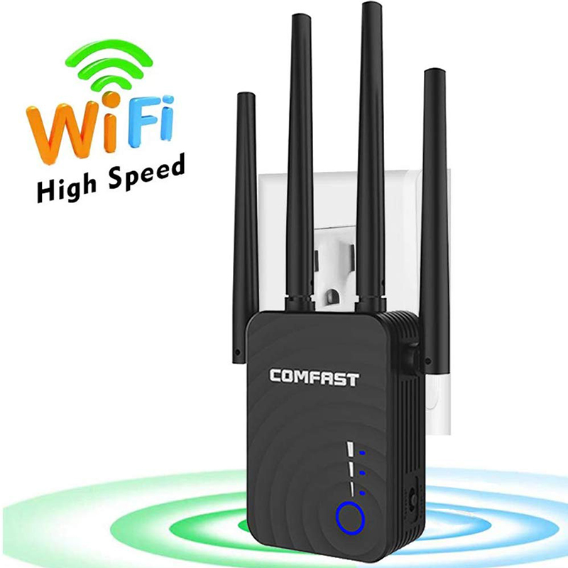 Comfast 1200Mbps Wireless Wifi Extender Wifi Repeater Dual Band 2.4&5.8Ghz 4 Wi Fi  Long Range Signal Amplifier