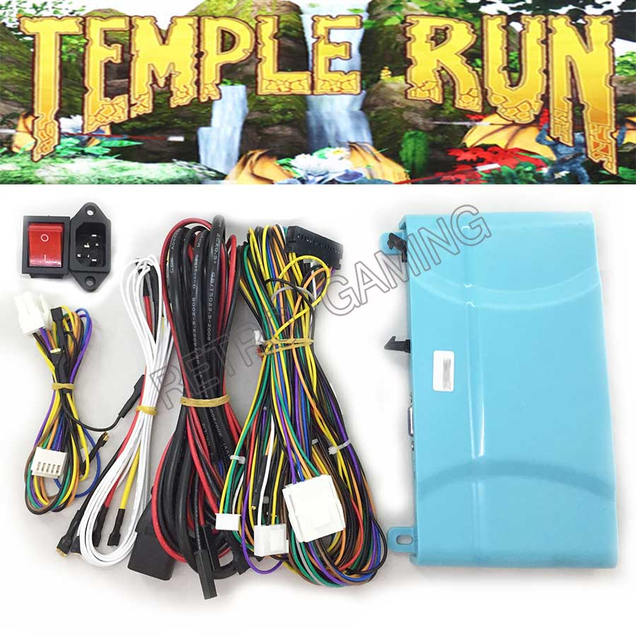 Temple Run game PCB board motherboard with wires cable and power switch socket for arcade Simulated running video game image