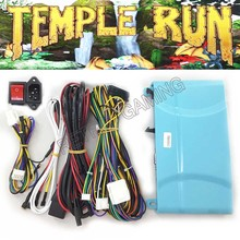 Temple run jogo pcb placa placa placa com fios cabo e interruptor de alimentação tomada para arcade simulado jogo de vídeo em execução