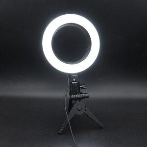 Image 5 - Chụp Ảnh Đèn Led Selfie Vòng Đèn 16 Cm Mờ Camera Điện Thoại Vòng Đèn 6 Inch Có Bàn Chân Máy Trang Điểm Video sống Phòng Thu