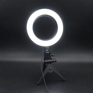 Image 5 - Photography LED Selfie Ring Light 16CM Dimmable Camera Phone Ring Lamp 6inch With Table Tripods For Makeup Video Live Studio