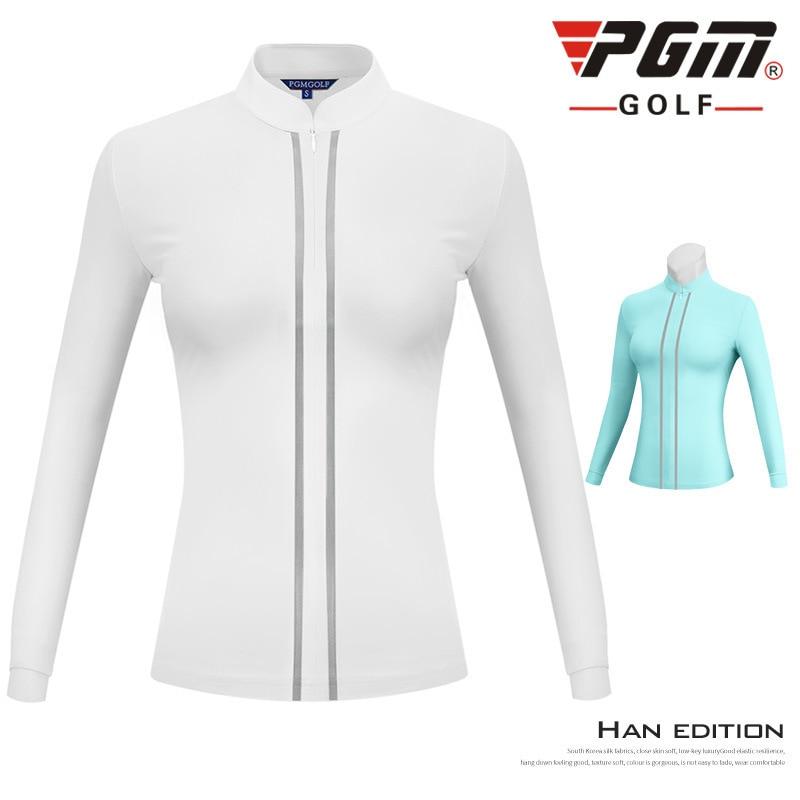 2019 PGM femmes Golf coupe-vent manteau à manches longues coupe-vent dames Zipper vers le bas sport chemise Golf sous-vêtements de sport D0800