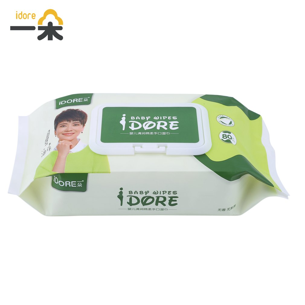 Deep Purification Moist Soft Toddlers Infant Wet Wipes Disposable Tissue Skin Cleanser Care For Baby 80 Pcs In 1 Pack