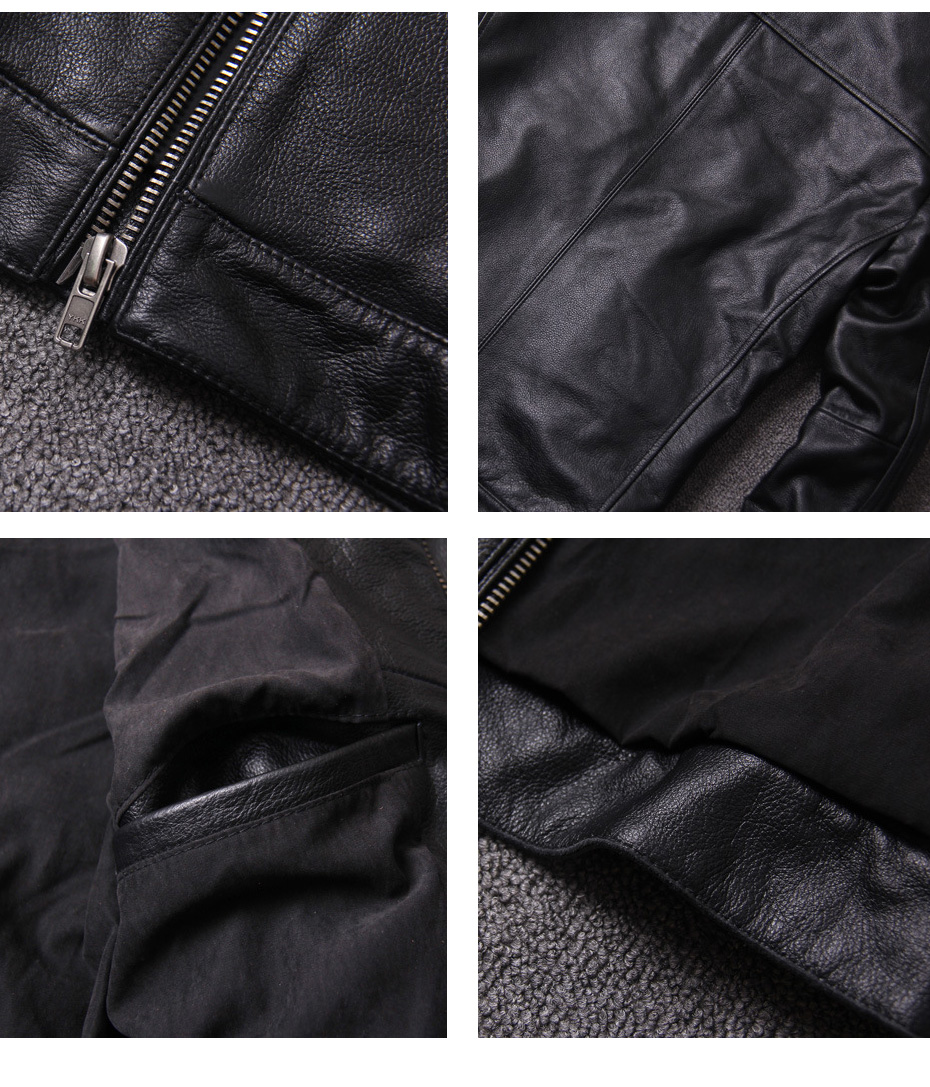 H16a5a8ba55044a9489de327394459d958 CARANFIER DHL Free Shipping Mens 100% Cowhide Genuine Leather Jacket High quality old retro motorcycle leather jacket 3XL
