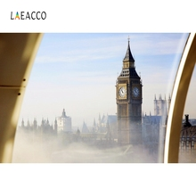 Laeacco Big Ben London Photophone Landmark Scenic การถ่ายภาพพื้นหลัง Travel Photo ฉากหลังสำหรับ Photo Studio Photozone PROP