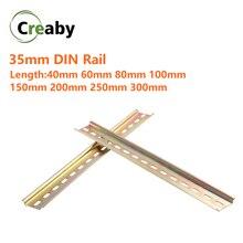 Универсальный тип 35 мм шлицевая din-рейка длиной 10 см 20 см 30 см толщина 1 мм для C45 автоматический выключатель клеммные блоки и контактор переменного тока