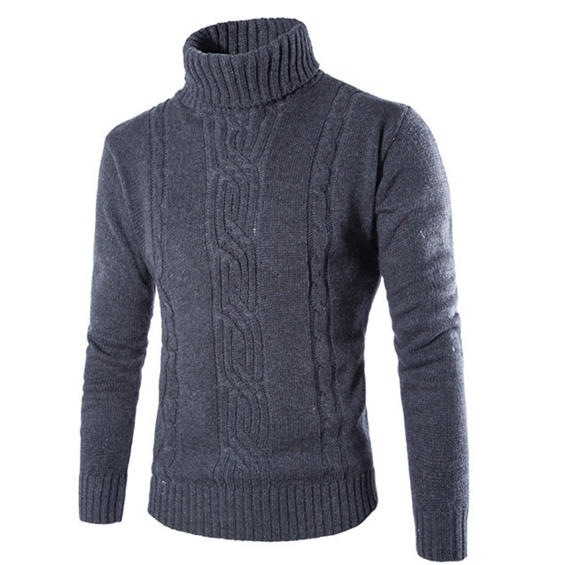 MEN'S Sweater Foreign Trade Fashion Jacquard Sweater Solid Color England Casual Pullover Sweater