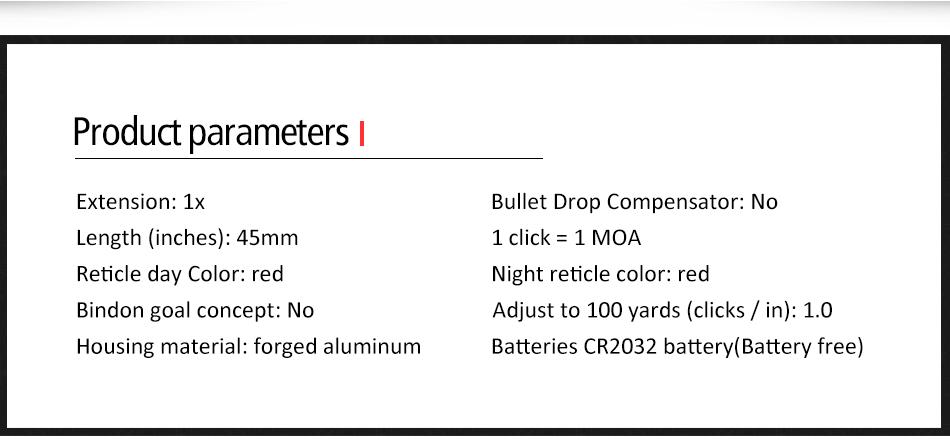 Mini RMR Red Dot Visão laser Colimador
