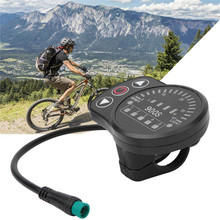 цена на Electric Bicycle Display Meter Speedometer with LED Display Waterproof Connector Universal for Electric Bike KIT-900S