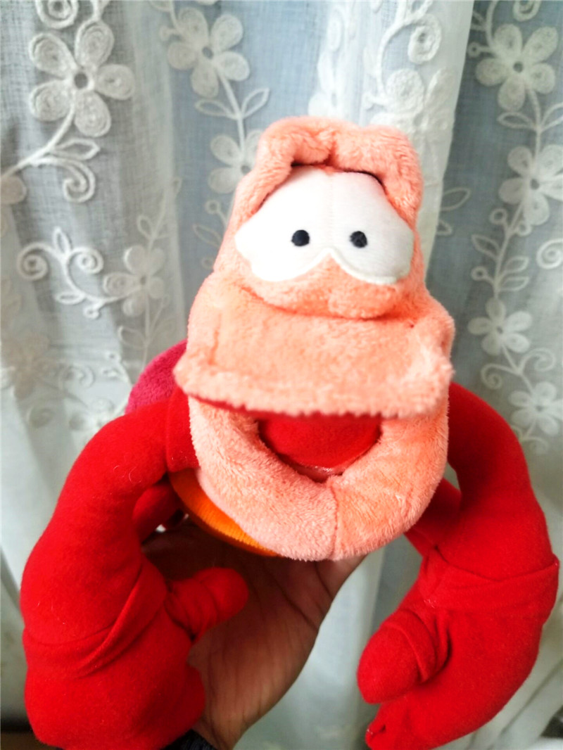 "Authentic The Little Mermaid Sebastian 8"" Plush Toy Doll Stuffed Animal Crab"