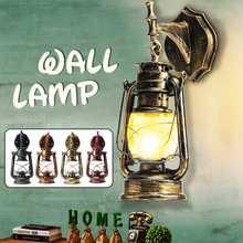 E27 europeu retro led lâmpada de parede do vintage querosene lâmpadas luminária para bar café banheiro arandela luzes pingente