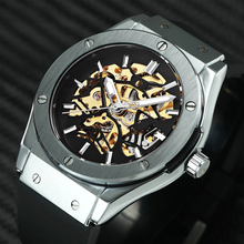 Hot Sell Sport Casual Men Auto Mechanical Watch Rubber Strap