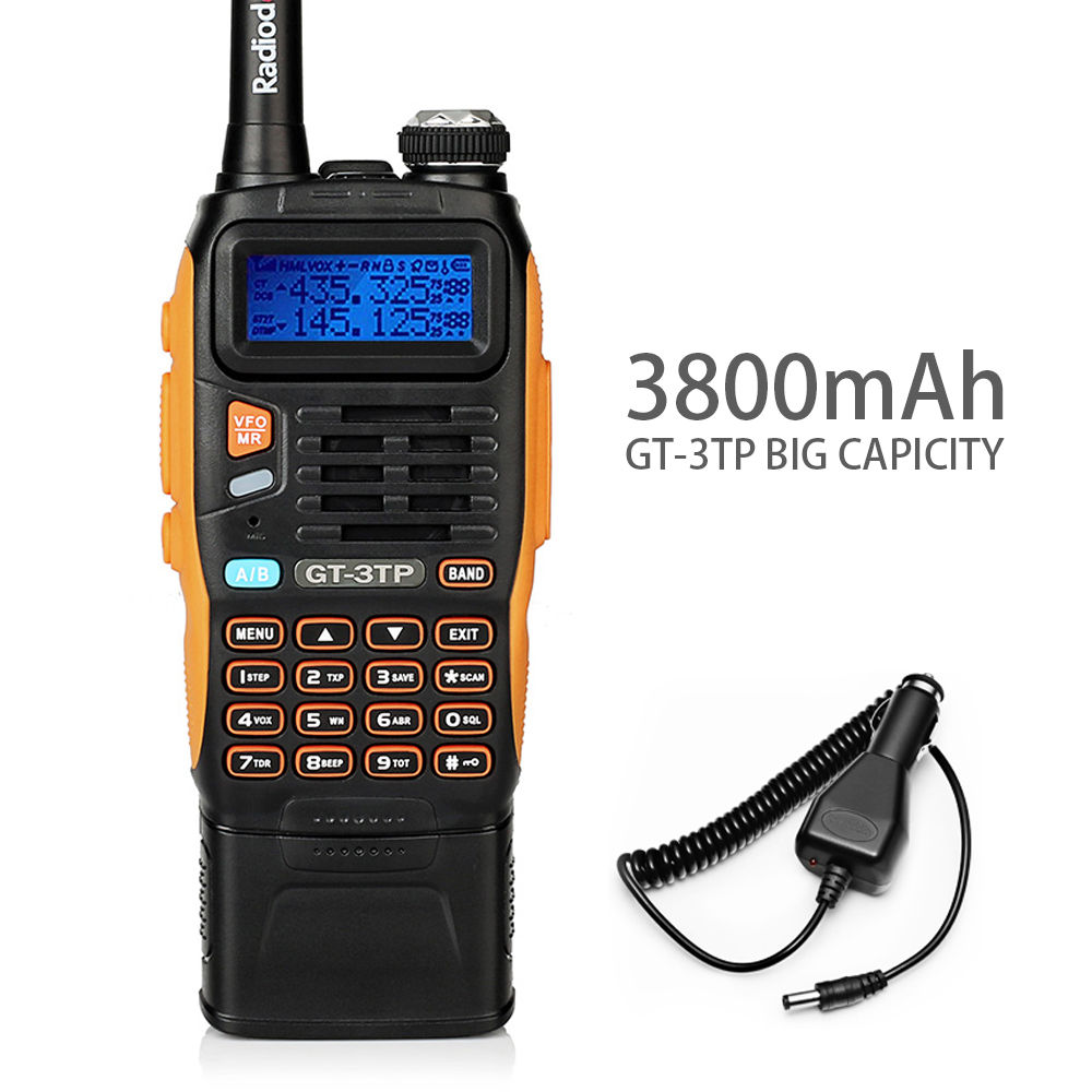 3800mAh Battery Baofeng GT-3TP MarkIII 8W Dual Band V/UHF Ham Two-way Radio Walkie Talkie Transceiver