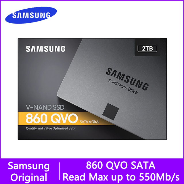 SSD SAMSUNG 860 QVO SSD 1TB 2TB 4TB HD SSD Disk 2.5 Internal Solid State Disk HDD Hard Drive SATA 3 for Laptop Desktop