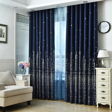 Modern Castle printed Blackout Curtains For Living Room Bedroom Window Thick Curtain Drapes Children Cloth Curtains For Kid modern castle printed blackout curtains for living room bedroom window thick curtain drapes children cloth curtains for kid