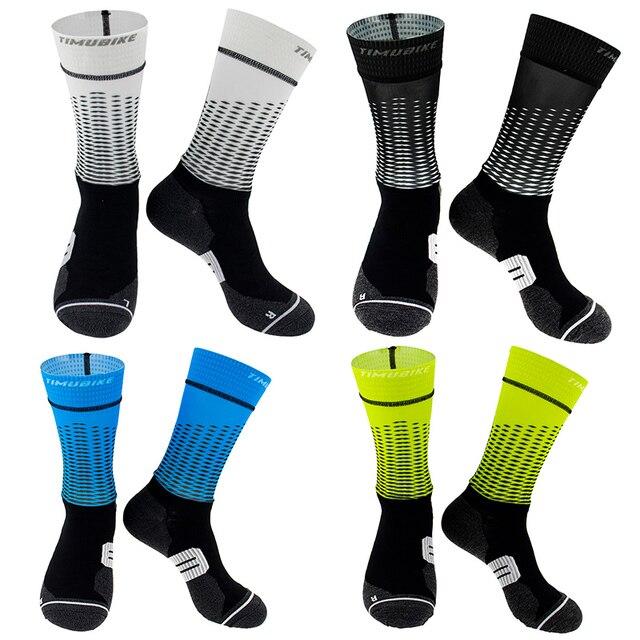 Anti derrapante profissional bicicleta meias meias de compressão esporte meias de rua esportes meias de corrida ciclismo 3
