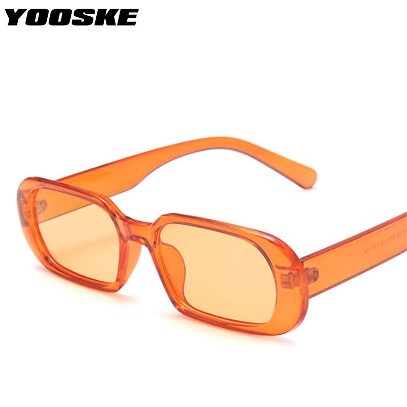 YOOSKE Brand Small Sunglasses Women Fashion Oval Sun Glasses Men Vintage Green Red Eyewear Ladies Traveling Style UV400 Goggles