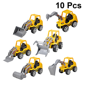 10PCS Mini Engineering Car Toys Plastic Excavator Model Toys Funny Engineering Truck Toy Early Educational Play House Toy for Ki